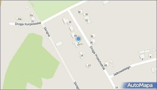 Grudziądz, Droga Przechodnia, 17, mapa Grudziądza