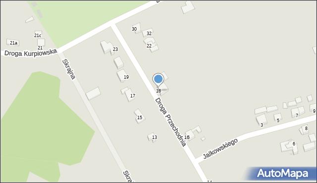 Grudziądz, Droga Przechodnia, 18, mapa Grudziądza
