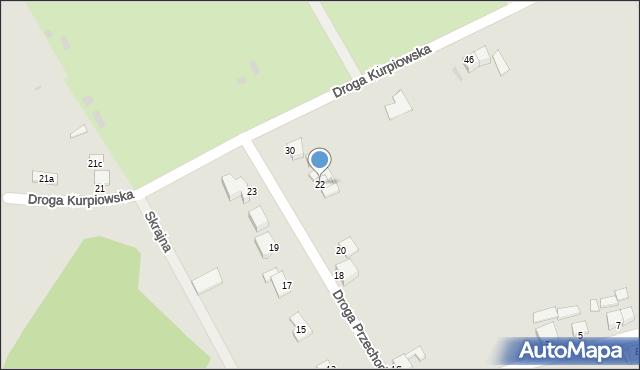 Grudziądz, Droga Przechodnia, 22, mapa Grudziądza