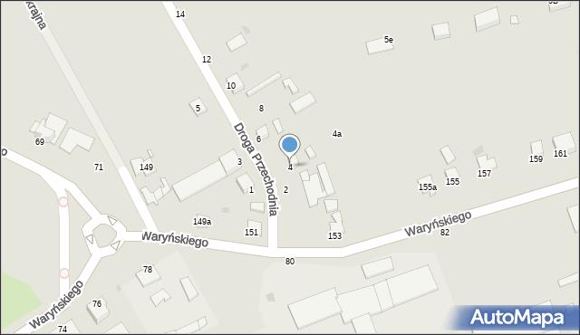 Grudziądz, Droga Przechodnia, 4, mapa Grudziądza