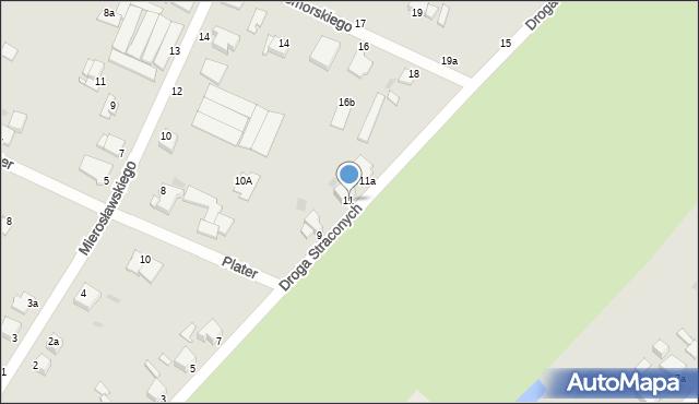 Grudziądz, Droga Straconych, 11, mapa Grudziądza