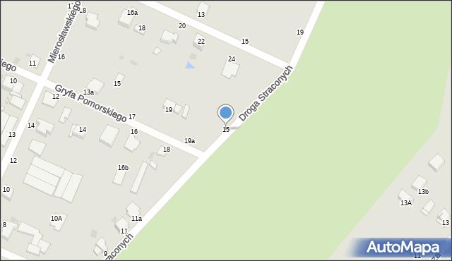 Grudziądz, Droga Straconych, 15, mapa Grudziądza