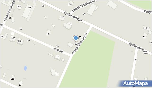 Grudziądz, Droga Straconych, 23, mapa Grudziądza