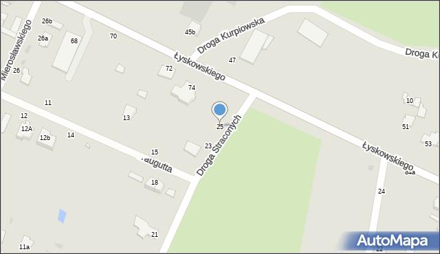 Grudziądz, Droga Straconych, 25, mapa Grudziądza