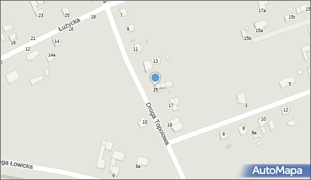 Grudziądz, Droga Topolowa, 15, mapa Grudziądza