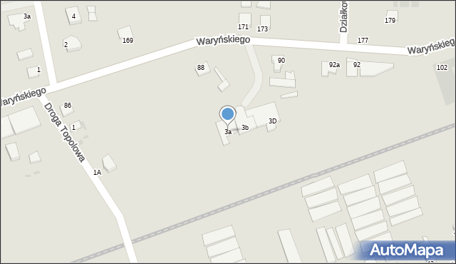 Grudziądz, Droga Topolowa, 3a, mapa Grudziądza