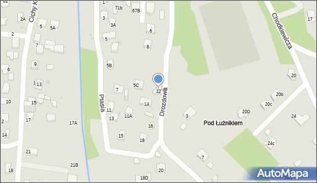 Jaworzno, Drozdowa, 12, mapa Jaworzno