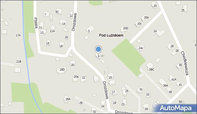 Jaworzno, Drozdowa, 7, mapa Jaworzno