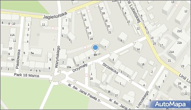 Kołobrzeg, Drzymały Wojciecha, 8A, mapa Kołobrzegu