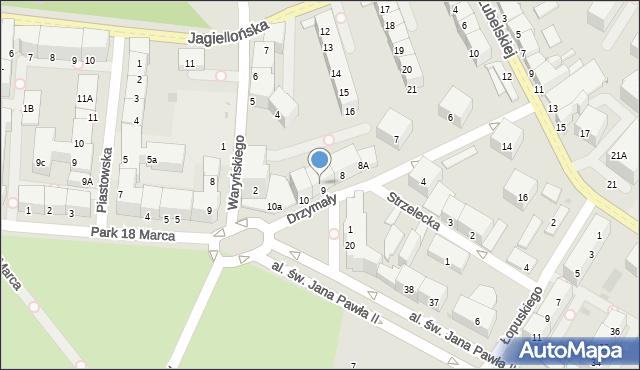 Kołobrzeg, Drzymały Wojciecha, 9A, mapa Kołobrzegu