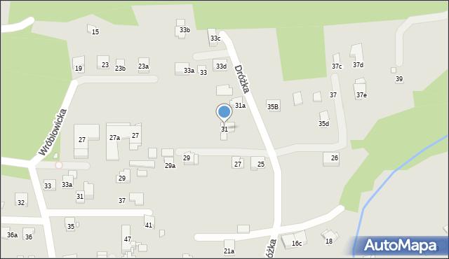 Kraków, Dróżka, 31, mapa Krakowa