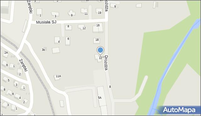 Limanowa, Drożdża Jana, 12, mapa Limanowa