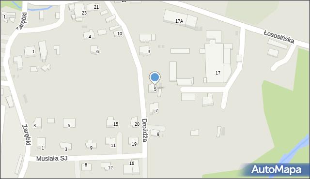 Limanowa, Drożdża Jana, 5, mapa Limanowa