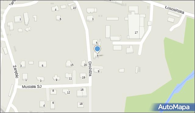 Limanowa, Drożdża Jana, 7, mapa Limanowa