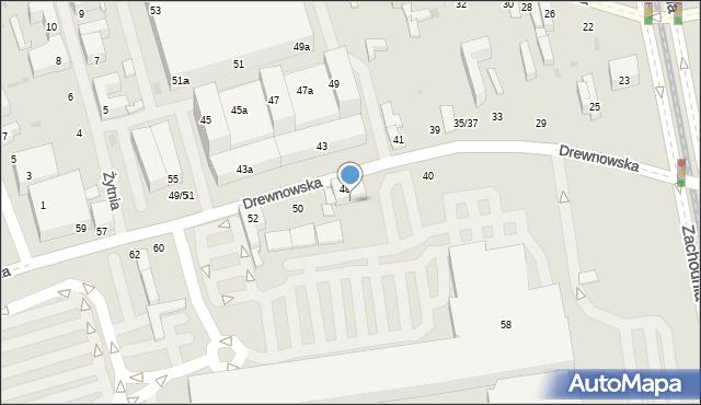 Łódź, Drewnowska, 48p, mapa Łodzi