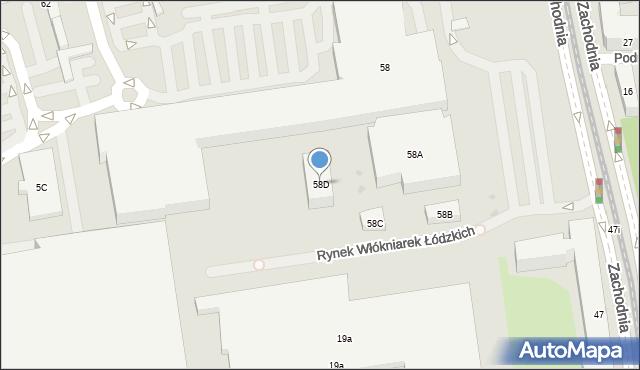 Łódź, Drewnowska, 58D, mapa Łodzi