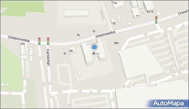 Łódź, Drewnowska, 88/90, mapa Łodzi