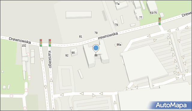 Łódź, Drewnowska, 88, mapa Łodzi