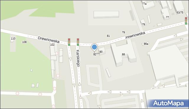 Łódź, Drewnowska, 92, mapa Łodzi