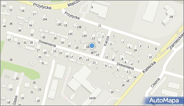 Radom, Drewniana, 16, mapa Radomia