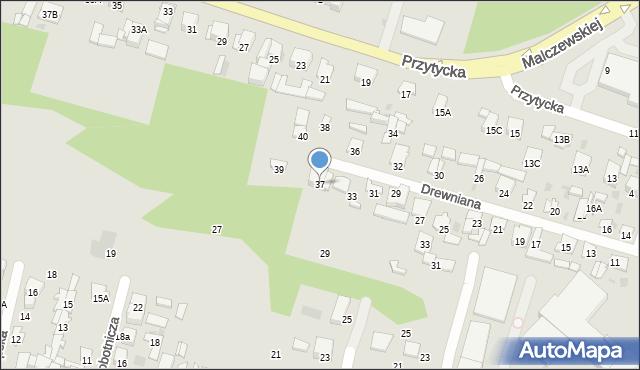 Radom, Drewniana, 37, mapa Radomia