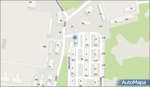 Świętochłowice, Drzymały Michała, 1A, mapa Świętochłowice