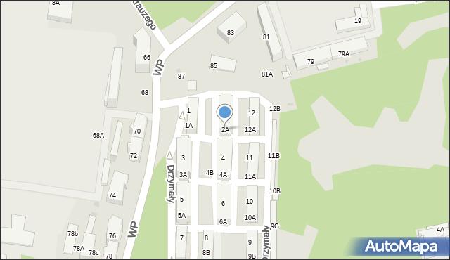 Świętochłowice, Drzymały Michała, 2A, mapa Świętochłowice