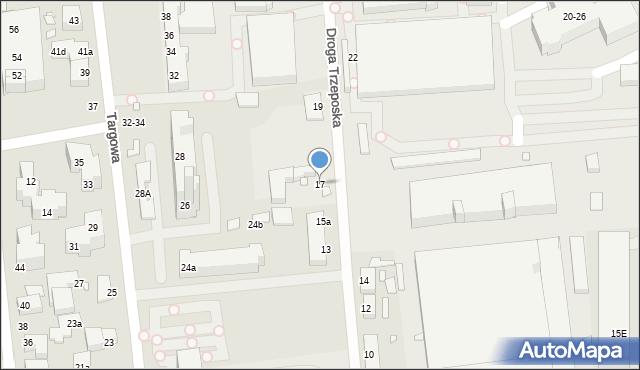 Toruń, Droga Trzeposka, 17, mapa Torunia