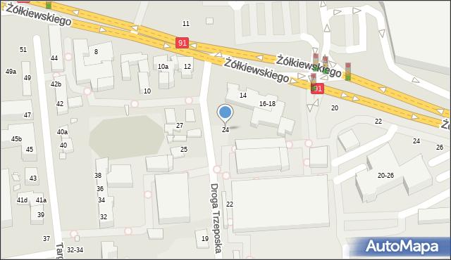Toruń, Droga Trzeposka, 24, mapa Torunia
