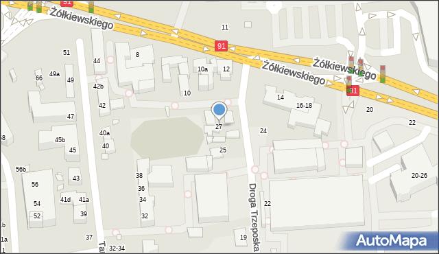 Toruń, Droga Trzeposka, 27, mapa Torunia