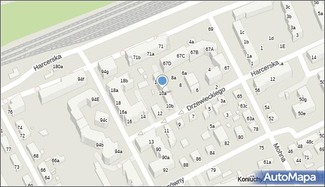 Toruń, Drzewieckiego Jana, kpt., 10a, mapa Torunia