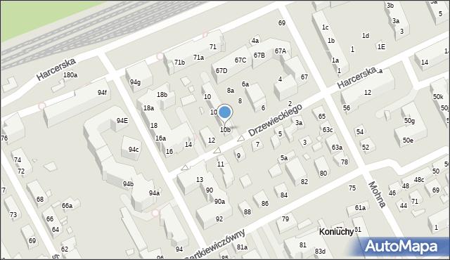 Toruń, Drzewieckiego Jana, kpt., 10b, mapa Torunia