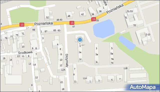 Toruń, Drzymały Michała, 1, mapa Torunia