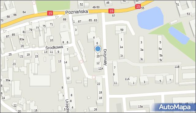 Toruń, Drzymały Michała, 10, mapa Torunia