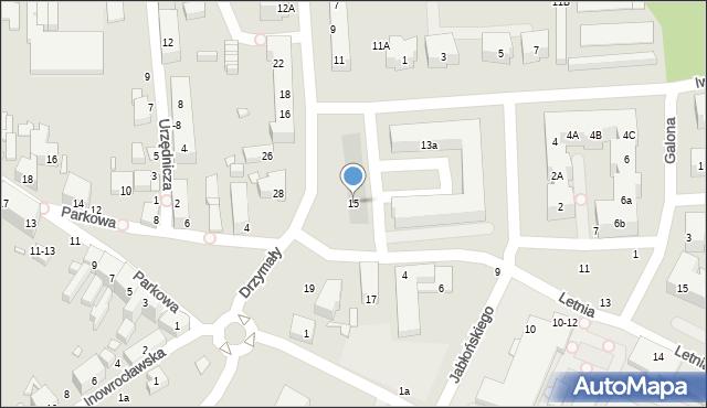 Toruń, Drzymały Michała, 15, mapa Torunia