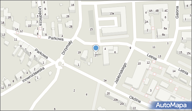 Toruń, Drzymały Michała, 17, mapa Torunia