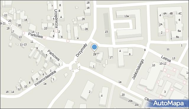 Toruń, Drzymały Michała, 19, mapa Torunia