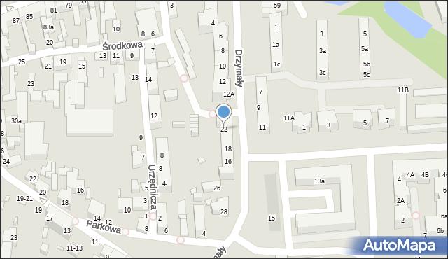 Toruń, Drzymały Michała, 22, mapa Torunia
