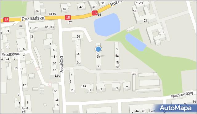 Toruń, Drzymały Michała, 3a, mapa Torunia