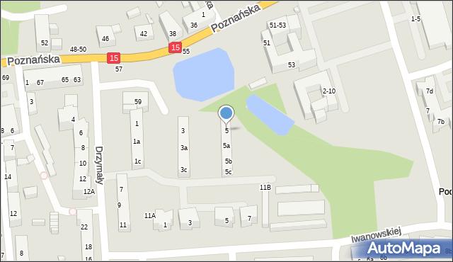 Toruń, Drzymały Michała, 5, mapa Torunia