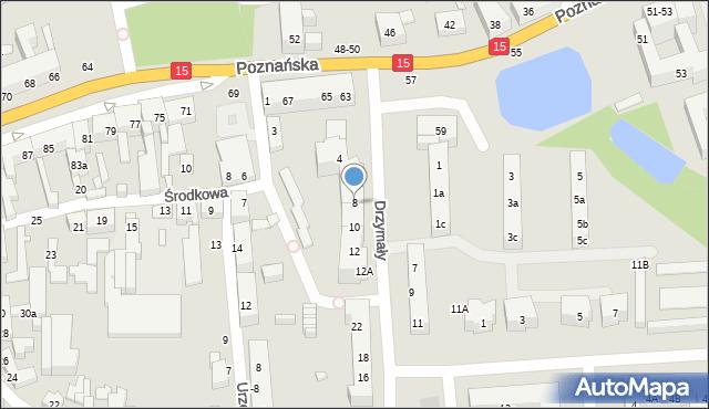 Toruń, Drzymały Michała, 8, mapa Torunia