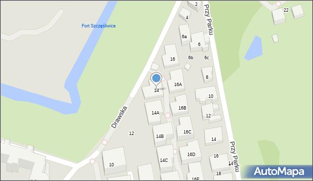 Warszawa, Drawska, 14, mapa Warszawy