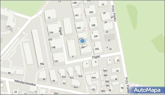 Warszawa, Drawska, 14F, mapa Warszawy