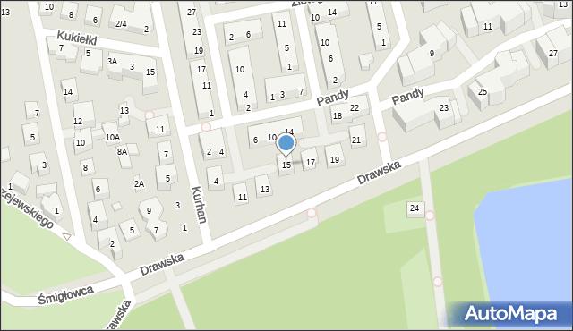 Warszawa, Drawska, 15, mapa Warszawy