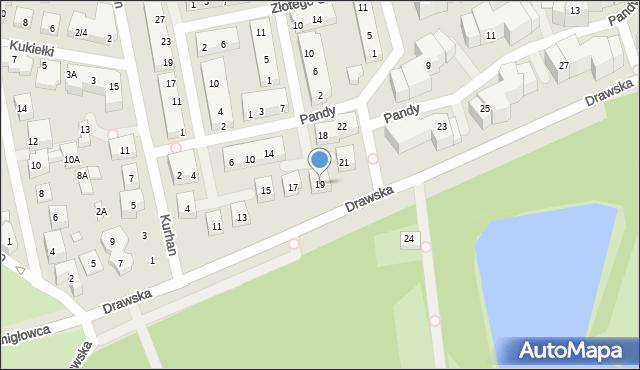 Warszawa, Drawska, 19, mapa Warszawy