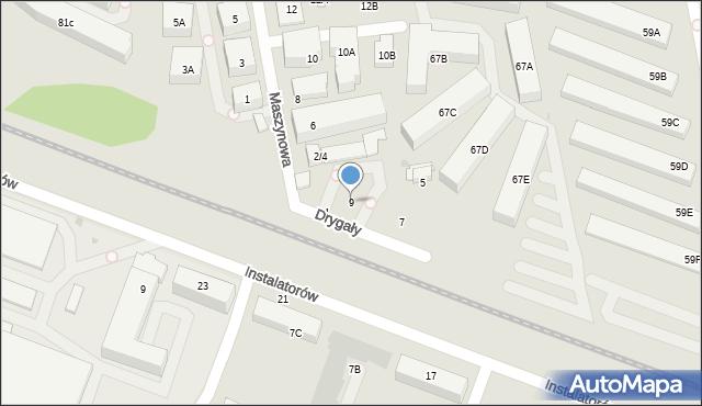 Warszawa, Drygały Mikołaja, 9, mapa Warszawy
