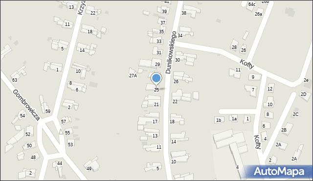 Bytom, Dunikowskiego Ksawerego, 25, mapa Bytomia