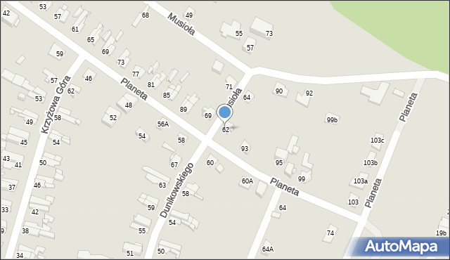 Bytom, Dunikowskiego Ksawerego, 62, mapa Bytomia