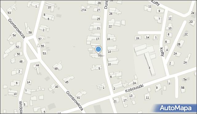 Bytom, Dunikowskiego Ksawerego, 9, mapa Bytomia