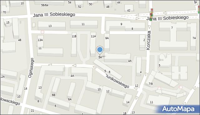 Częstochowa, Dunikowskiego Ksawerego, 5A, mapa Częstochowy